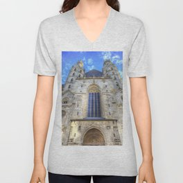 St Stephen's Cathedral Vienna Unisex V-Neck