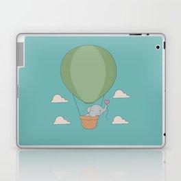 Kawaii Elephant Hot Air Balloon Laptop & iPad Skin