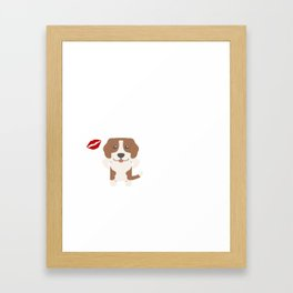 I Kissed A Foxhound And I Liked It Cute Dog Kiss Gift Idea Framed Art Print