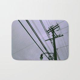 Power Lines Bath Mat