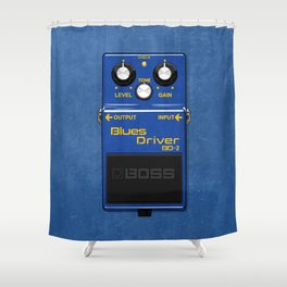 Drivin' the Blues Shower Curtain