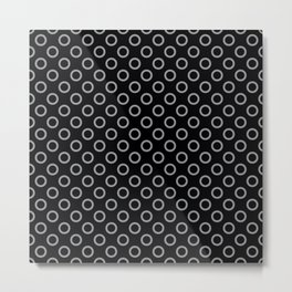Grey Rings with Black Background Metal Print
