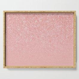 Rose Gold Glitter Cascade Serving Tray