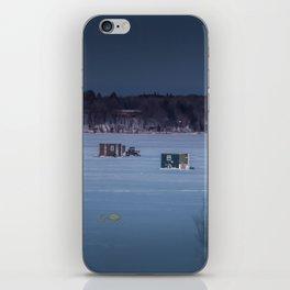 Ice Fishing on Fish Hook Lake iPhone Skin