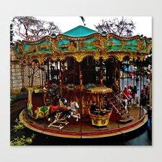 Merry Go Round Paree Canvas Print