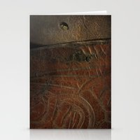 leather Stationery Cards featuring Aged Leather by Dorothy Pinder