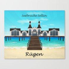 Seebrücke Sellin Canvas Print