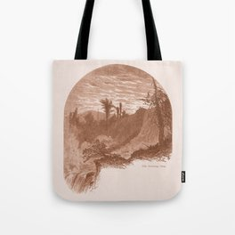 Lower Falls, Vintage Ticonderoga Tote Bag