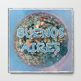 Buenos Aires Tiny Planet Metal Print