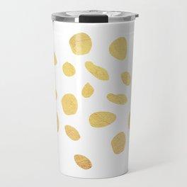 Gold dots Travel Mug