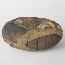 A Pastoral Visit, by Richard Norris Brooke, 1881 . An African American family Floor Pillow