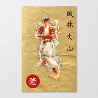 street fighter Canvas Prints featuring Street Fighter II - Ryu by Carlo Spaziani