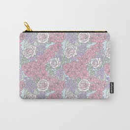 Chevron Floral Pastel Carry-All Pouch