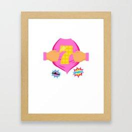 Super Kids 7th Birthday Girl Framed Art Print