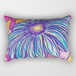 Aqurple Flower Rectangular Pillow