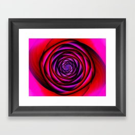 Fractal Rose Framed Art Print