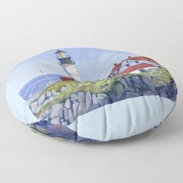 Portland Head Lighthouse Floor Pillow