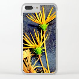 Grizzled Gazanias Clear iPhone Case