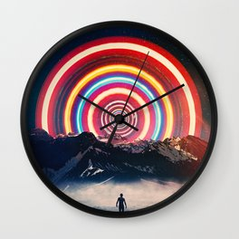 Behind The Mountain Wall Clock