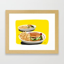 Homemade Cheeseburger Framed Art Print
