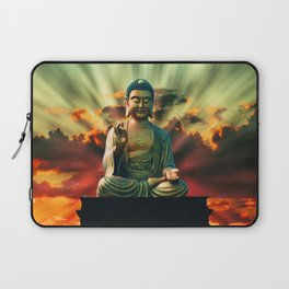 Buddha Sunrise Spiritual Zen Meditation Yoga Mantra Indian Laptop Sleeve