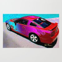 mustang Area & Throw Rugs featuring Mustang GT by JT Digital Art