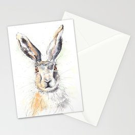 Staring Hare Stationery Cards