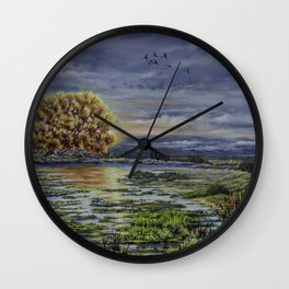 Autumn Reflections Wall Clock