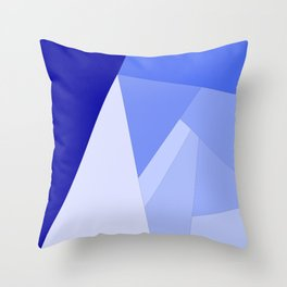9 Shades of Blue Throw Pillow