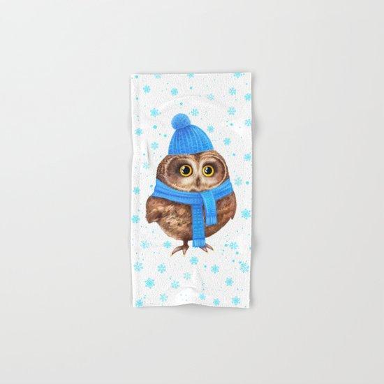winter Owl Hand & Bath Towel