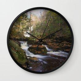 Falls at Ricketts Glen Wall Clock
