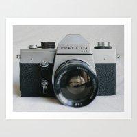Praktika 35mm Vintage Camera Art Print