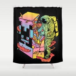 Space Arcade Shower Curtain
