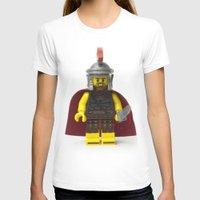 gladiator T-shirts featuring Roman gladiator Minifig by Jarod Pulo