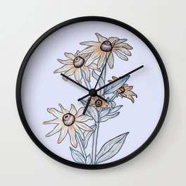 Yellow daisy Wall Clock