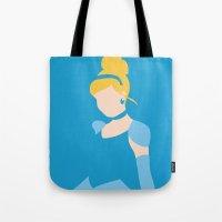 cinderella Tote Bags featuring Cinderella by Adrian Mentus
