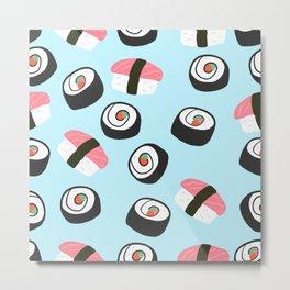 Simple Sushi Metal Print