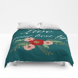 Live Your Best Life Comforters