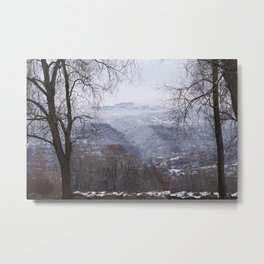 Ohrid, Macedonia winter scene Metal Print
