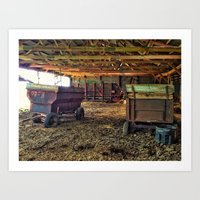 Barn & Farm Equipment Art Print