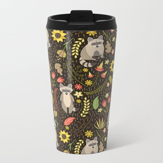 Raccoons Metal Travel Mug