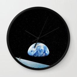 Moon swimming pool Wall Clock