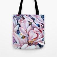 magnolia Tote Bags featuring magnolia by Eva Lesko