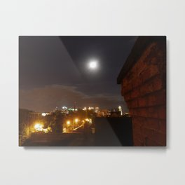 Moon over Allentown Metal Print