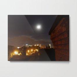 Moon over Allentown Metal Print