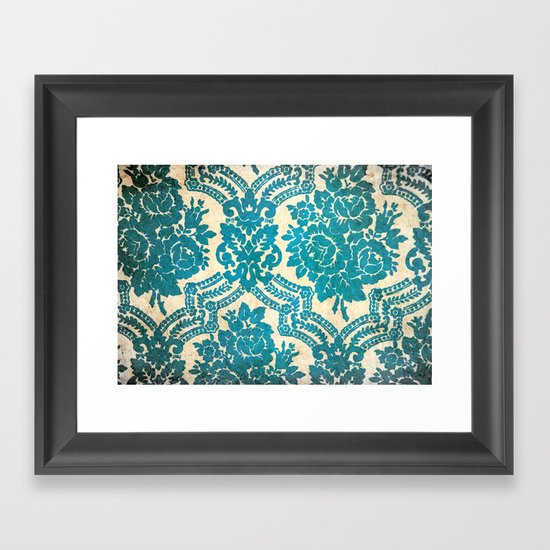 Flower vintage pattern Framed Art Print