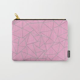 Ab Out Double Pink and Grey Carry-All Pouch