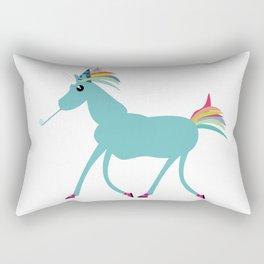 Arthur, the Unicorn, likes to party Rectangular Pillow