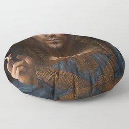 Sativator Mundi Floor Pillow
