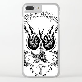 wings of awareness Clear iPhone Case